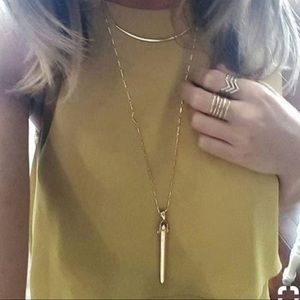 Stella & Dot Jewelry - Rebel Pendent Gold